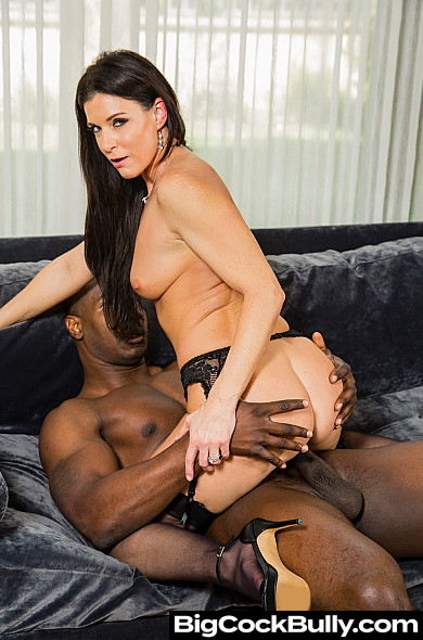 India Summer Wearing Stockings Takes a Big Black Cock - Big Cock Bully India Summer - India Summer Legs