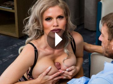 Casca Akashova In Stockings Takes Care of Her New Client - Casca Akashova Legs - Casca Akashova Feet